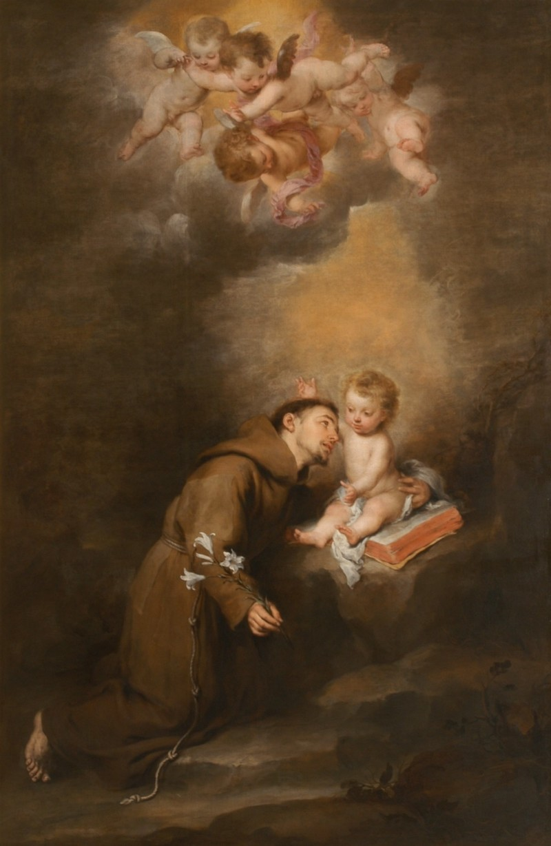 Saint Anthony Of Padua With The Child Jesus